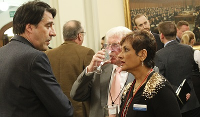 Nadra Ahmed OBE (NCA Chair), James Morris MP & Tony Billingham (NCA Board)