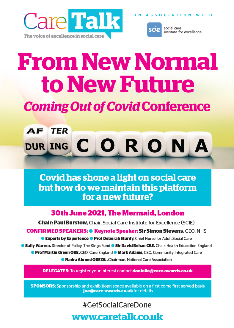 Care Talk: From New Normal To New Future: Coming Out of Covid Conference