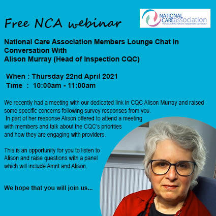 FREE Webinar - In Conversation With Alison Murray (Head of Inspection CQC)