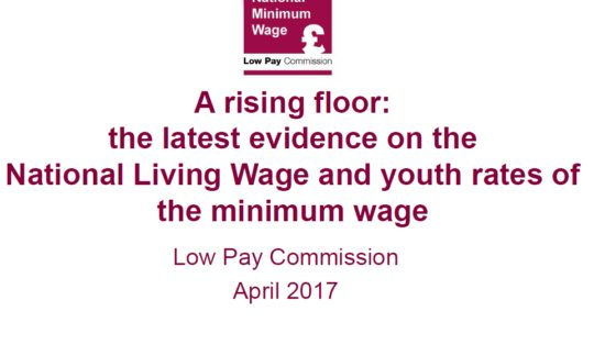 A rising floor: the latest evidence on the National Living Wage and you...