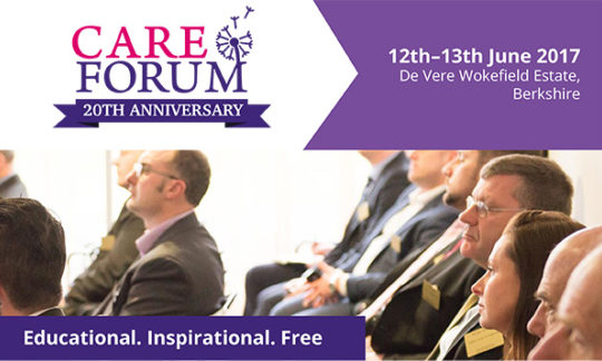 Learn, meet and network at the Care Forum