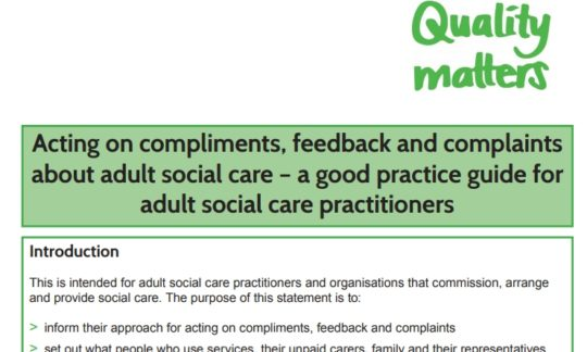 Ombudsman publishes care home complaints guidance