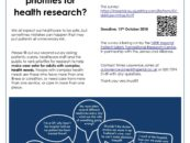 Do you want to help decide priorities for health research?